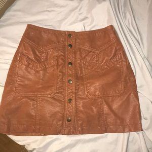 Free People Brown Skirt